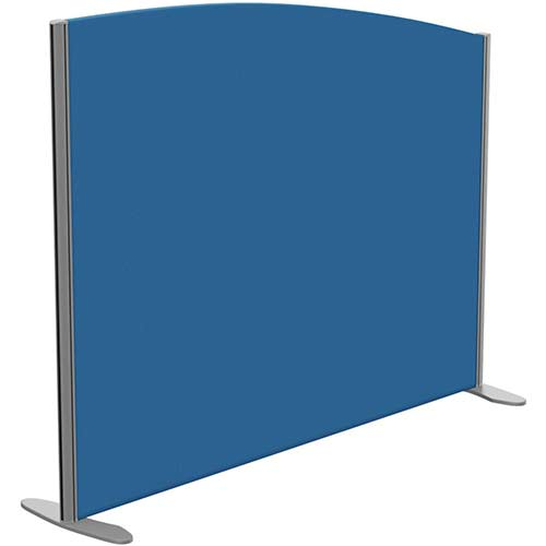 Sprint Eco Freestanding Privacy Acoustic Screen Curved Top W1400xH1100-900mm Blue - With Stabilising Feet