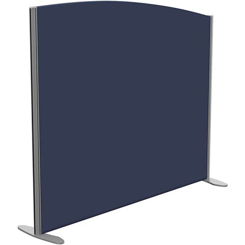 Sprint Eco Freestanding Screen Curved Top W1400xH1200-1000mm Dark Blue - With Stabilising Feet