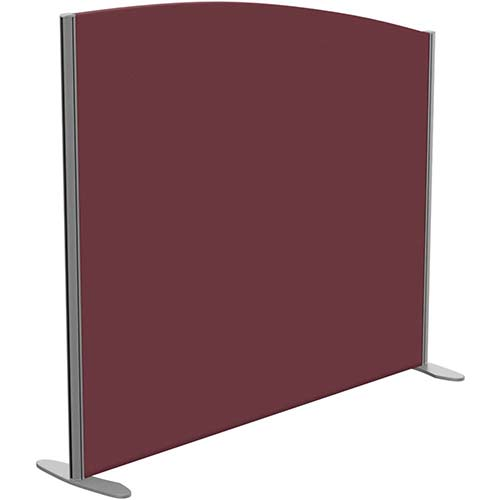 Sprint Eco Freestanding Screen Curved Top W1400xH1200-1000mm Wine - With Stabilising Feet