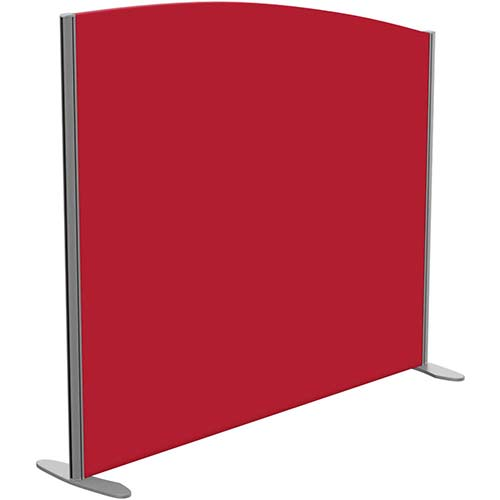 Sprint Eco Freestanding Screen Curved Top W1400xH1200-1000mm Red - With Stabilising Feet