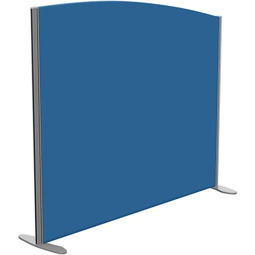 Sprint Eco Freestanding Screen Curved Top W1400xH1200-1000mm Blue - With Stabilising Feet