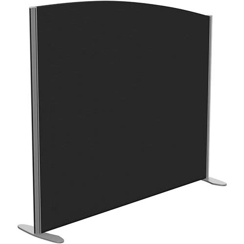 Sprint Eco Freestanding Screen Curved Top W1400xH1200-1000mm Black - With Stabilising Feet