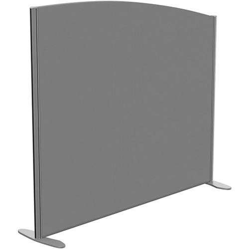 Sprint Eco Freestanding Screen Curved Top W1400xH1200-1000mm Grey - With Stabilising Feet