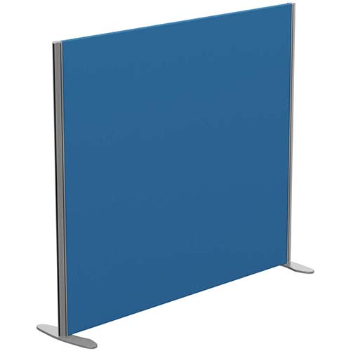 Sprint Eco Freestanding Privacy Acoustic Screen Straight Top W1400xH1200mm Blue - With Stabilising Feet