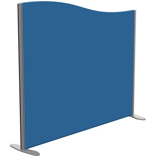 Sprint Eco Freestanding Screen Wave Top W1400xH1200-1000mm Blue - With Stabilising Feet