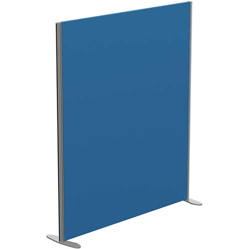 Sprint Eco Freestanding Privacy Acoustic Screen Straight Top W1400xH1600mm Blue - With Stabilising Feet