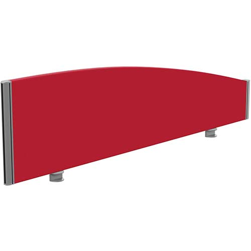 Sprint Eco Office Desk Screen Curved Top W1400xh380 180mm Red