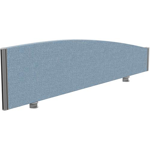 Sprint Eco Office Desk Screen Curved Top W1400xH380-180mm Light Blue