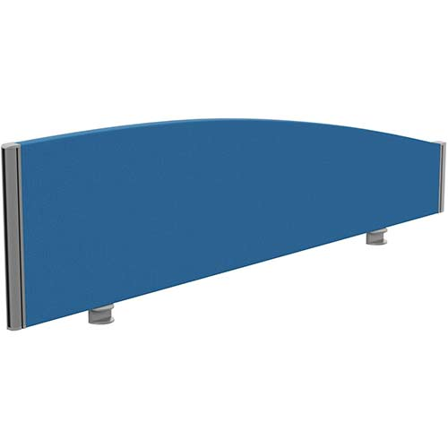 Sprint Eco Office Desk Screen Curved Top W1400xH380-180mm Blue