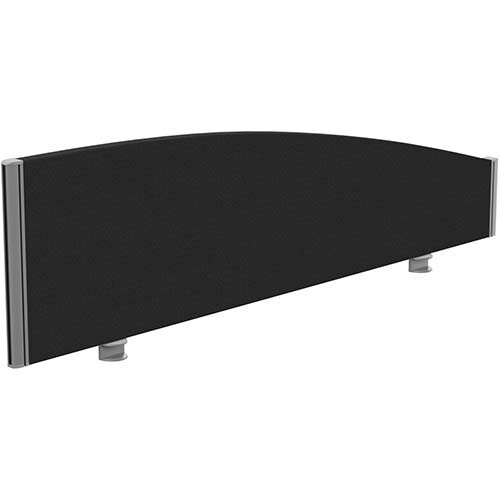 Sprint Eco Office Desk Screen Curved Top W1400xH380-180mm Black