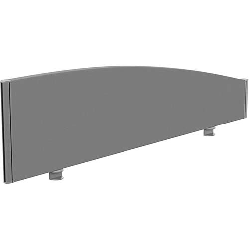 Sprint Eco Office Desk Screen Curved Top W1400xH380-180mm Grey