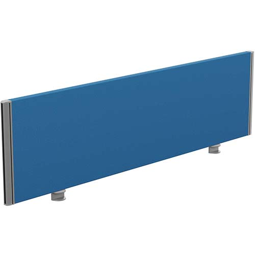 Sprint Eco Office Desk Screen Straight Top W1400xH380mm Blue