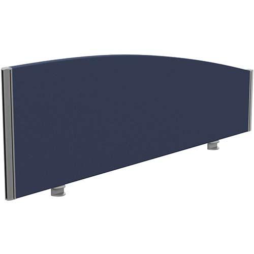 Sprint Eco Office Desk Screen Curved Top W1400xH480-280mm Dark Blue