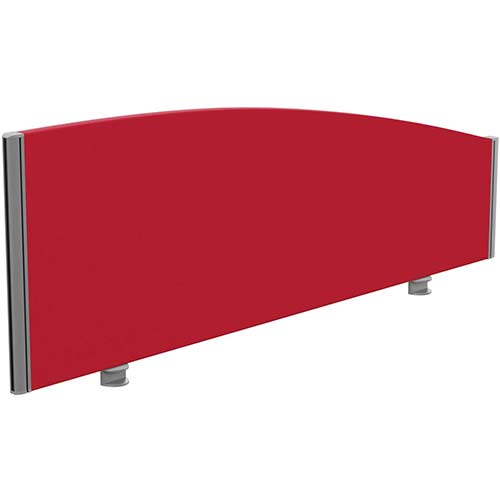 Sprint Eco Office Desk Screen Curved Top W1400xH480-280mm Red