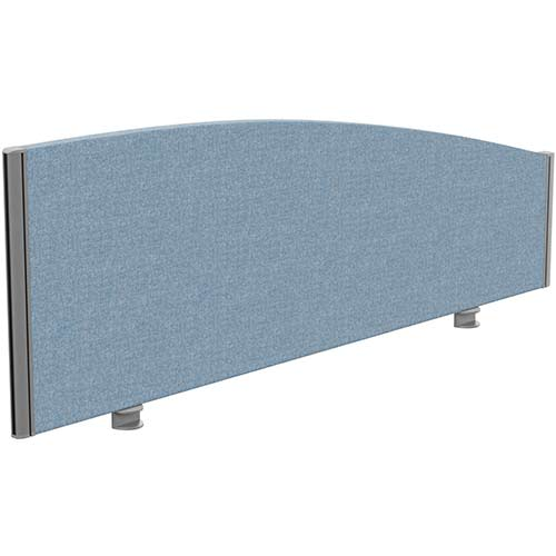 Sprint Eco Office Desk Screen Curved Top W1400xH480-280mm Light Blue