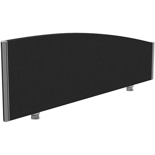 Sprint Eco Office Desk Screen Curved Top W1400xH480-280mm Black