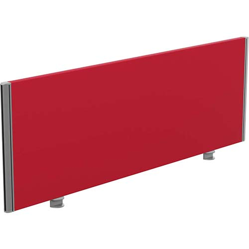Sprint Eco Office Desk Screen Straight Top W1400xH480mm Red