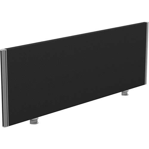 Sprint Eco Office Desk Screen Straight Top W1400xH480mm Black