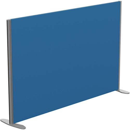 Sprint Eco Freestanding Privacy Acoustic Screen Straight Top W1600xH1000mm Blue - With Stabilising Feet
