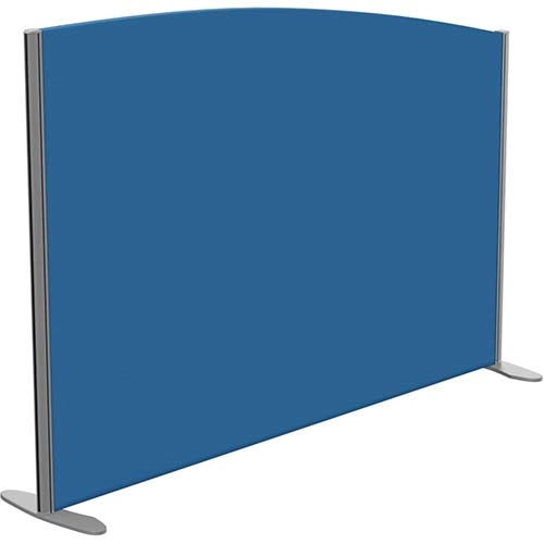 Sprint Eco Freestanding Privacy Acoustic Screen Curved Top W1600xH1100-900mm Blue - With Stabilising Feet