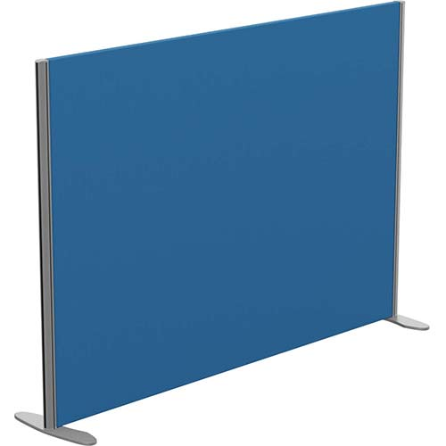 Sprint Eco Freestanding Privacy Acoustic Screen Straight Top W1600xH1100mm Blue - With Stabilising Feet