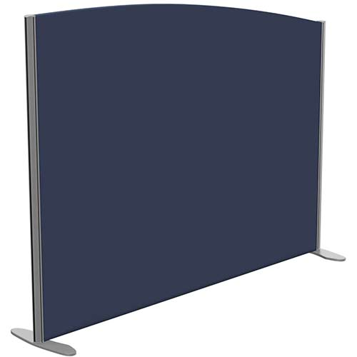 Sprint Eco Freestanding Screen Curved Top W1600xH1200-1000mm Dark Blue - With Stabilising Feet
