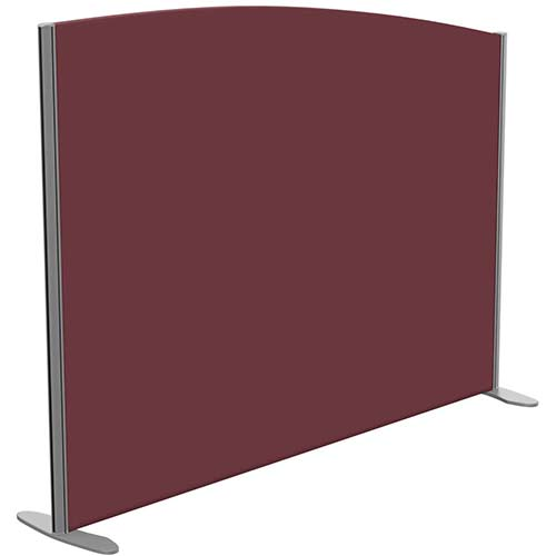 Sprint Eco Freestanding Screen Curved Top W1600xH1200-1000mm Wine - With Stabilising Feet