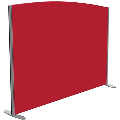 Sprint Eco Freestanding Screen Curved Top W1600xH1200-1000mm Red - With Stabilising Feet
