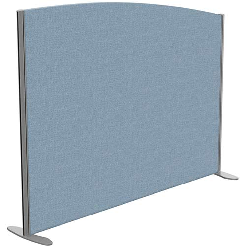 Sprint Eco Freestanding Screen Curved Top W1600xH1200-1000mm Light Blue - With Stabilising Feet