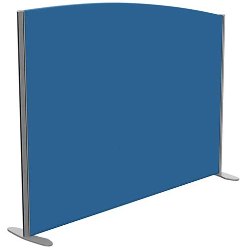 Sprint Eco Freestanding Screen Curved Top W1600xH1200-1000mm Blue - With Stabilising Feet