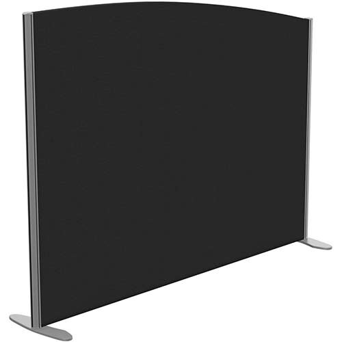Sprint Eco Freestanding Screen Curved Top W1600xH1200-1000mm Black - With Stabilising Feet