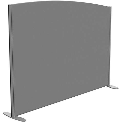 Sprint Eco Freestanding Screen Curved Top W1600xH1200-1000mm Grey - With Stabilising Feet