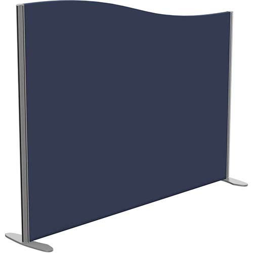 Sprint Eco Freestanding Screen Wave Top W1600xH1200-1000mm Dark Blue - With Stabilising Feet