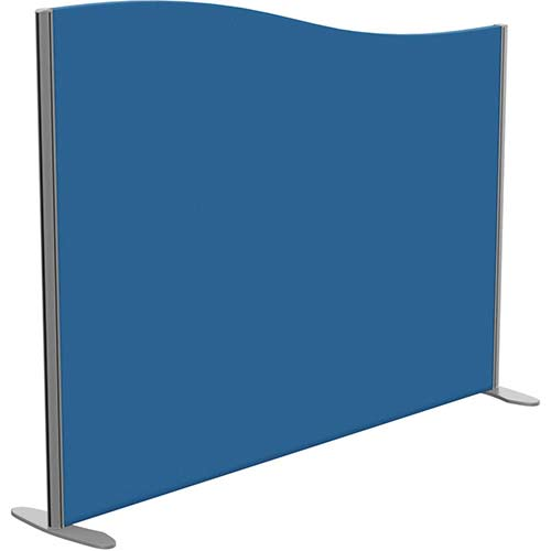 Sprint Eco Freestanding Screen Wave Top W1600xH1200-1000mm Blue - With Stabilising Feet