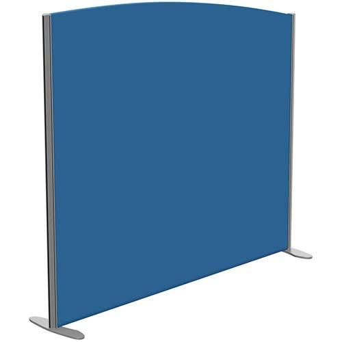 Sprint Eco Freestanding Screen Curved Top W1600xH1400-1200mm Blue - With Stabilising Feet