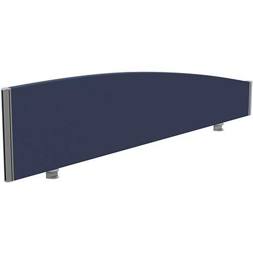 Sprint Eco Office Desk Screen Curved Top W1600xH380-180mm Dark Blue