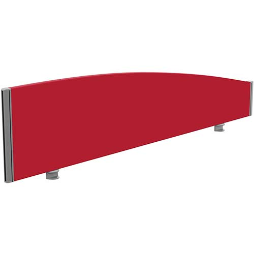 Sprint Eco Office Desk Screen Curved Top W1600xH380-180mm Red