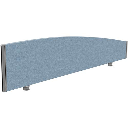 Sprint Eco Office Desk Screen Curved Top W1600xH380-180mm Light Blue
