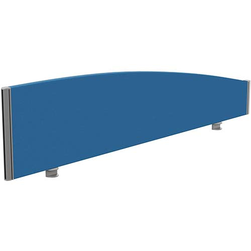 Sprint Eco Office Desk Screen Curved Top W1600xH380-180mm Blue