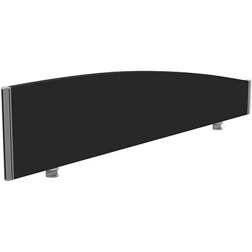 Sprint Eco Office Desk Screen Curved Top W1600xH380-180mm Black