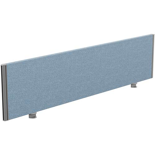 Sprint Eco Office Desk Screen Straight Top W1600xH380mm Light Blue