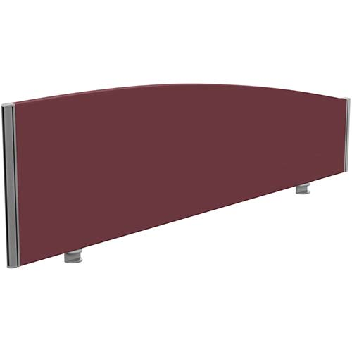 Sprint Eco Office Desk Screen Curved Top W1600xH480-280mm Burgundy