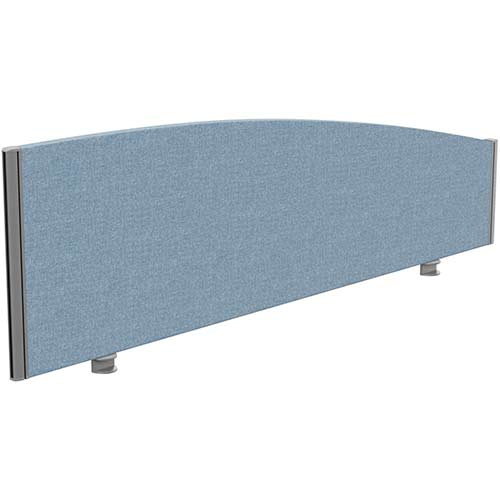 Sprint Eco Office Desk Screen Curved Top W1600xH480-280mm Light Blue