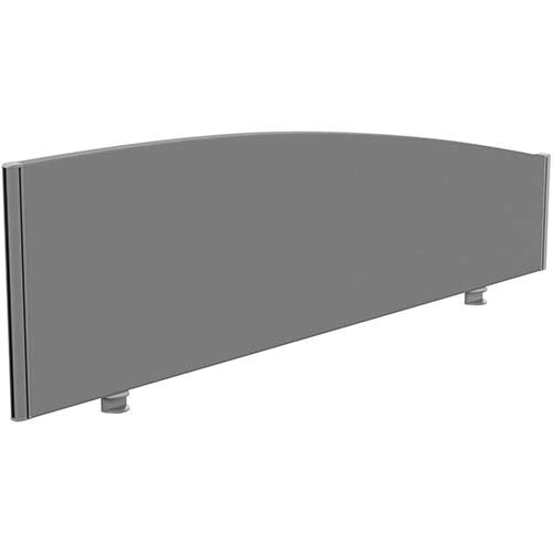 Sprint Eco Office Desk Screen Curved Top W1600xH480-280mm Grey