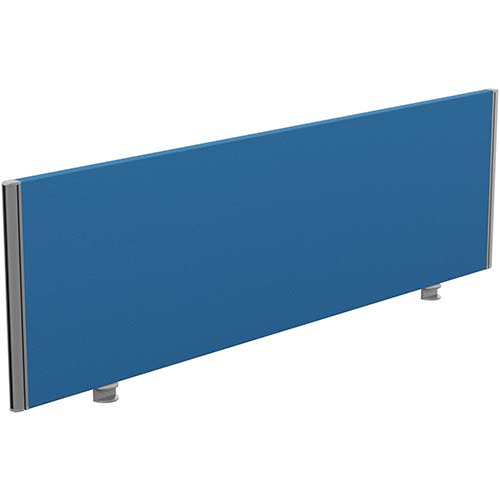 Sprint Eco Office Desk Screen Straight Top W1600xH480mm Blue