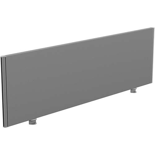 Sprint Eco Office Desk Screen Straight Top W1600xH480mm Grey