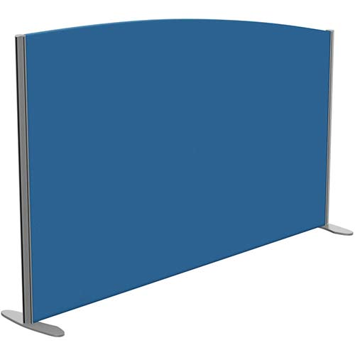 Sprint Eco Freestanding Privacy Acoustic Screen Curved Top W1800xH1100-900mm Blue - With Stabilising Feet