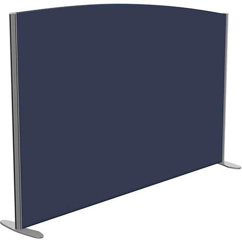 Sprint Eco Freestanding Screen Curved Top W1800xH1200-1000mm Dark Blue - With Stabilising Feet