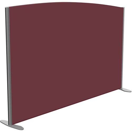 Sprint Eco Freestanding Screen Curved Top W1800xH1200-1000mm Wine - With Stabilising Feet