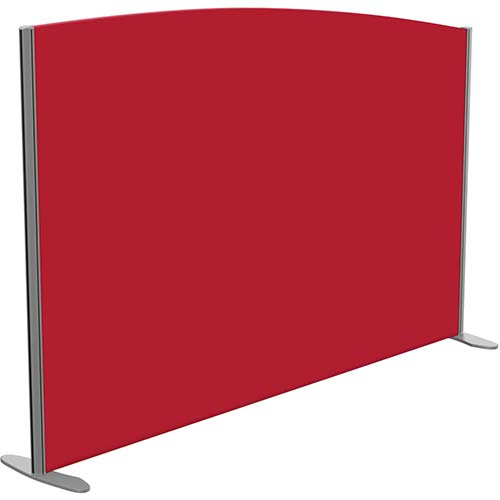 Sprint Eco Freestanding Screen Curved Top W1800xH1200-1000mm Red - With Stabilising Feet
